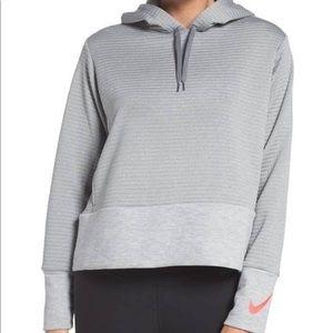 Nike Dri-Fit Grey Training Swoosh Hoodie